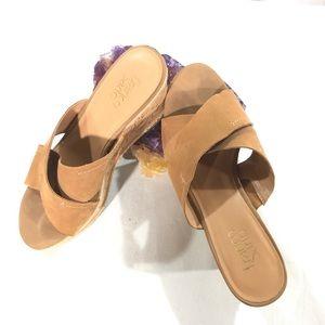 Franco Sarto Suede and Cork Shoe
